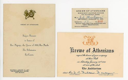 Invitation ticket and menu for krewe of athenians ball w invitation ticket and menu for krewe of athenians ball w orleans11354 stopboris Image collections