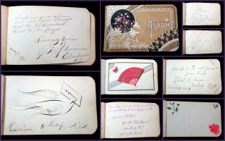 19th Century Autograph Album belong to William from Westerly, RI. ..1880-1898