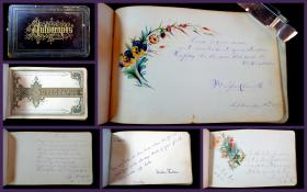 Autograph Album of Miss Lena Spray. .New York.1870 - 1901