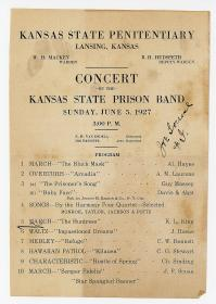 Kansas State Penitentiary - Concert by the Kansas State Prison Ban