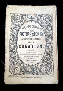 Newcomb's Picture Stories, Scripture Series, No. 1 Creation. Clement & Packard.New York.1841