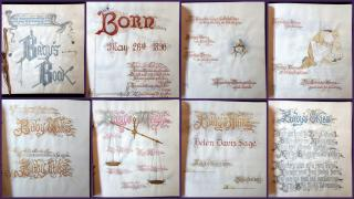 Original Art - Baby's Book Created for Helen Davis Sage by her Father - Watercolor on Vellum