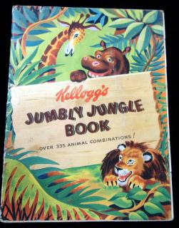 Kellogg's Jumbly Jungle Book - Metamorphic Sliced Pictures. Kellogg Company.Canada.1948