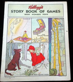 Kellogg's Story Book of Games: Book Number Four. Kellogg Company.Battle Creek.1931