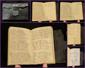 Commonplace Book, Pocket Diary of August Maria Ward Bissell. .New York.1868
