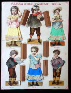Paper Doll Family  No. 1. McLoughlin Bros. NY.1875-76
