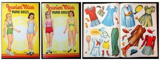 Junior Miss Paper Dolls. Saalfield Pub. Co..Akron, OH.1942