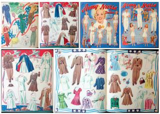 Army and Navy Wedding Party Cut-out Dolls . Saalfield Pub. Co. No. 2446..