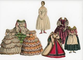 Cinderella & her 6 Costumes. Clark, Austin & Smith.New York NY.1858-1860