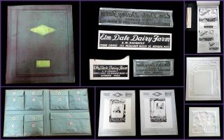 Advertising Campaign Portfolio with Printer Samples - Glendale Milk. McTee & Co Inc.New York.1929