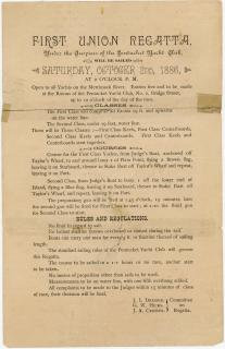Committe on Regatta First Union Regatta Public Invitation Handbill. .Haverhill MA.1886