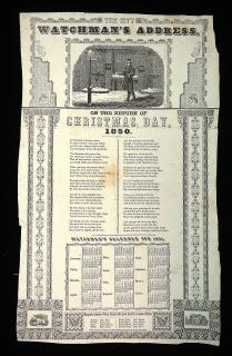 The City Watchman's Address On the Return of Christmas Day, 1850. ..1850