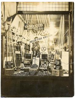 Window Display Photograph - Helen Fox Kruser Delicatessen featuring of A-So-Gud Pretzels . ..1920s