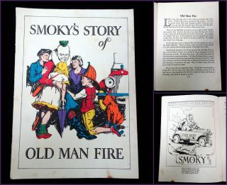 Harry K. Rogers Smokey's Story of Old Man Fire. Stock Fire Insurance Company..1929
