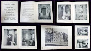 G. L. & H. J. Gross Illustrated Booklet of the Auction of Marsden Perry's Home, the Historic Ward-Perry House. Remington Printing Company.Providence, RI.1903