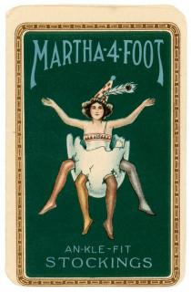 Berendsen Silk Co. Bangor, PA Martha 4 Foot, An-kle -Fit  Stockings, Will not Run. Robischon Corp. .New York.c1922