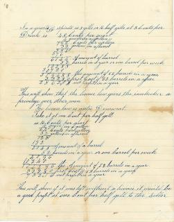 Calculations for a tavern keeper's profit - pros and cons of the tavern license law. ..c1860s