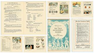 Julia Letheld Hahn Promotional Booklet for The Child Develpment Readers. Houghton Mifflin Co..Boston.1935