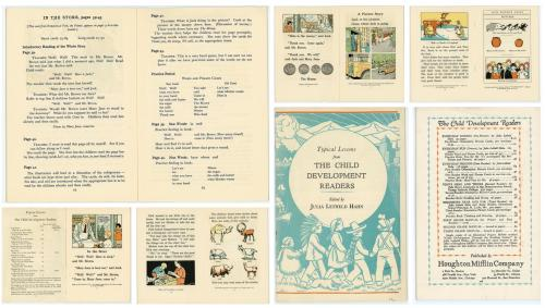 Julia Letheld Hahn Promotional Booklet for The Child Develpment Readers   Houghton Mifflin Co  Boston 1935