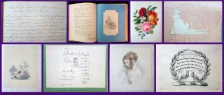 Helen Maria Imrie, etc. A Fine Ladies Album and Commonplace Book - Helen Maria Imrie . .Scotland.1839-1866