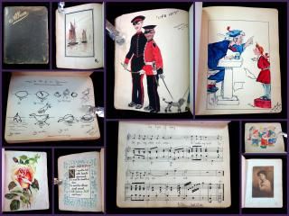 "M Varney Sketch Book and Friendship Album Madgie Varney w ""First Washing Day. .England.1908-1947"