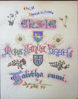 Illuminated Calligraphy with Flora Embellishments - Our Darling Elsie