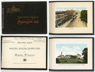 Souvenir Album of Beautiful Selected Colored Views of Madison, Wisconsin. James E.  Moseley, Bookseller.Madison, WI.c1910