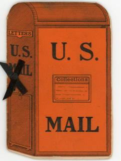 Dance Card in the shape of a US Mail Box - Third Annual Concert and Ball of the Letter Carriers' Relief Association. J. E. Shipman.Springfield [MA].1894