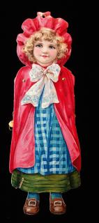 Movable Marionette - Little Red Riding Hood. Raphael Tuck & Sons, Ltd.London, Printed in Bavaria.