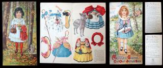 Mother Goose CutOut Picture Book . National Art Co. .New York.c1930s
