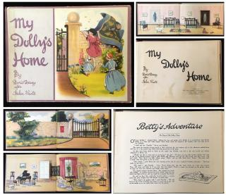 Doris Davey after Helen Waite My Dolly's Home (a paper doll house with characters). Arts and General Publishers Ltd. London.1921