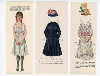 Children as Advertising Pawns - Larkin Products Promotes Premium Clothing with Alice Thrifty Paper Doll. ..