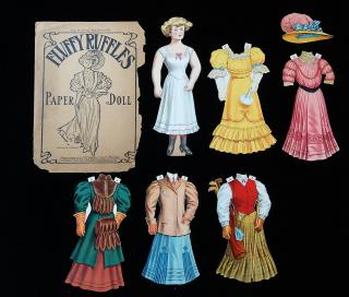 "Wallace Morgan Fluffy Ruffles: The ""It Girl of 1907 - Paper Doll. J. Ottmann.New York.1907"