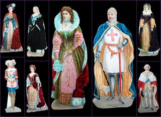 8 Victorian Self Standing Die-cuts - British Monarchy & Royals 1189-1870s. ..