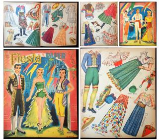 Fiesta Paper Dolls. Saalfield, ArtCraft, No. 1723.USA.c1960