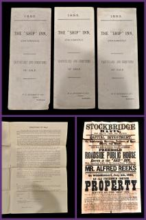 Contracts and Broadside for the Auction of the Ship Inn. W. T. Hickman and Son.Southampton, UK.1883