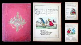 Charles H. Bennett Old Nurse's Book of Rhymes, Jingles, and Ditties: As Written by Mother Goose. Leavitt & Allen.New York.c. 1858