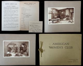 American's Women's Club of London American Women's Club of London, Informational Pamphlet and Curtsey Member Pass . .London.c. 1924