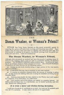 The Steam Washer, or Woman's Friend. ..c1880s