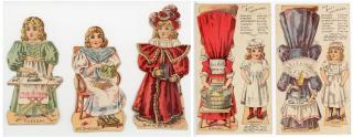 Good-Will Soap The Busy Housemaid Paper Dolls. Geo. E. March Co., M.F. Tobin (litho).Lynn, MA.c1888
