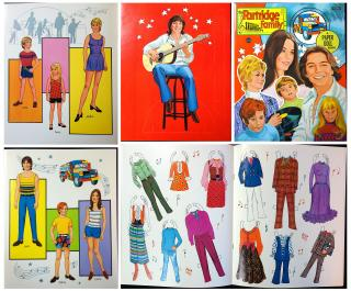 The Partridge Family - A Paper Doll Book. Columbia Pictures Industries, Artcraft..1972