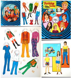 The Partridge Family - A Paper Doll Book. Columbia Pictures Industries, Artcraft..1971