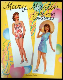Mary Martin Dolls and Costumes. Saalfield Publishing.Akron, OH.1942