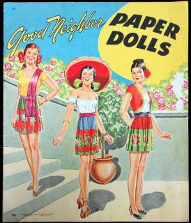 Good Neighbors Paper Dolls, No.324. Saalfield Publishing Company.Akron, OH.1944