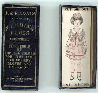 Dolly - Box Insert - J. & P. Coats Mending Floss. J. & P. Coats.New York, NY.c1910