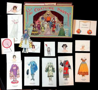 Betty Campbell Boxed Set - The Costume Party Dolls to Dress w A Story of the Dolls and Their Masquerades by Susan S. Popper. Sam'l Gabriel & Sons Co. No. D137.New York.[1940s]