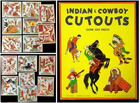 Uncut Indian & Cowboy Cutouts. The Platt & Munk Co., Inc...[1950s]