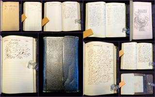 1866 Pocket Diary of a Traveling Alarm Bell Installer in Pennsylvania and New York