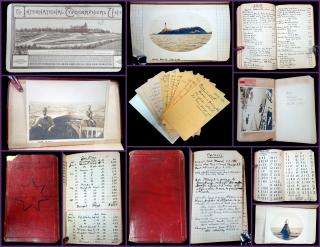 Massachusetts Boatman's Meticulous Journal containing  Milage, Expenses, and Records of Trips for the Polaris, 1911-1919. F. W. Barry, Beale & Co..Boston, MA.1911