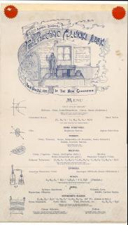 Polytechnic Alumni Association Menu 30th Annual Dinner of the Polytechnic Alumni Association. .Brooklyn, NY.February 26,1892